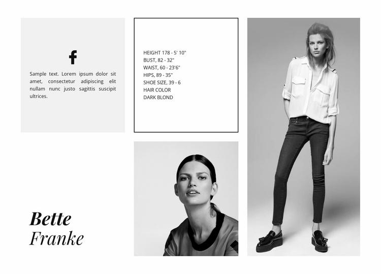 Fashion Model Website Template