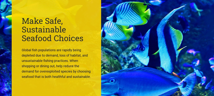 Make safe sustainable seafood choices HTML Template