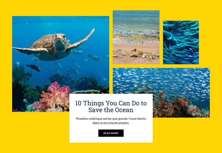 Things Save Ocean One Page Template