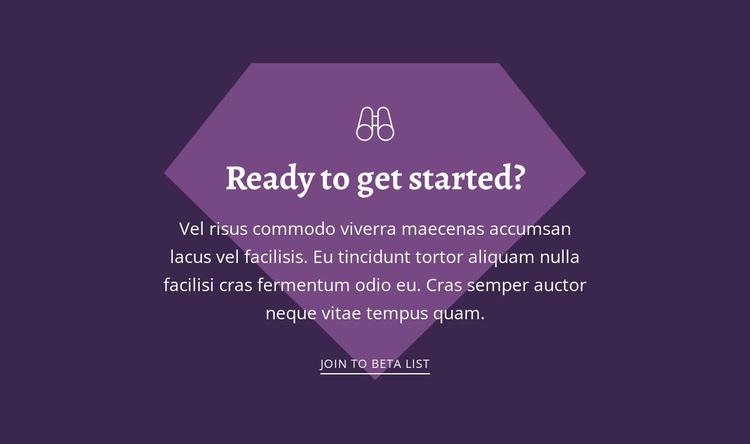 Ready to get started Website Design