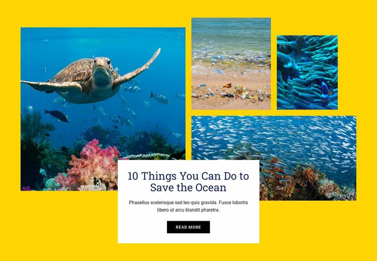 Things Save Ocean Website Mockup