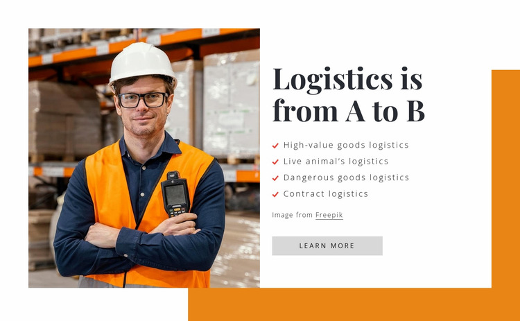Logistics is from A to B Website Mockup