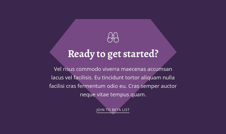 Ready to get started Website Template