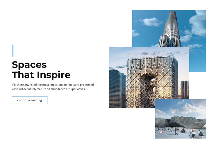 Spaces in the city HTML Template