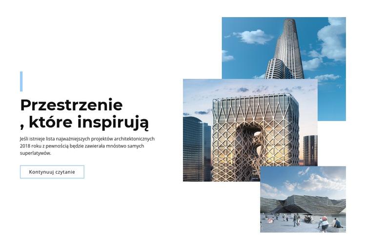 Przestrzenie w mieście Szablon witryny sieci Web