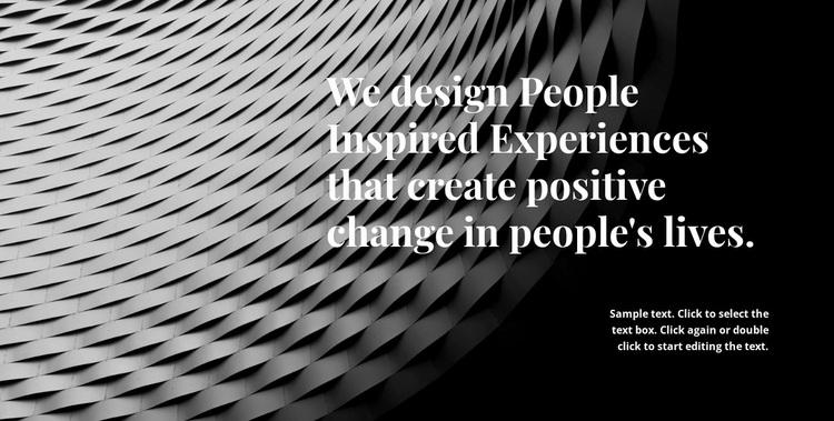 People who create beauty Website Design