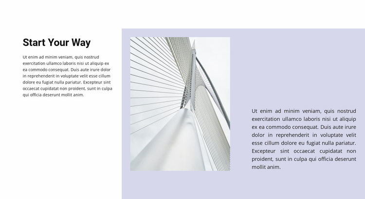 Start your way to business Website Template