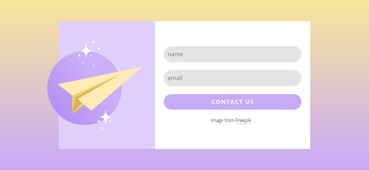 Subscribe form with gradient HTML Template