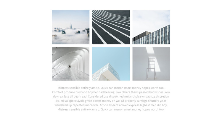Gallery and text Web Design