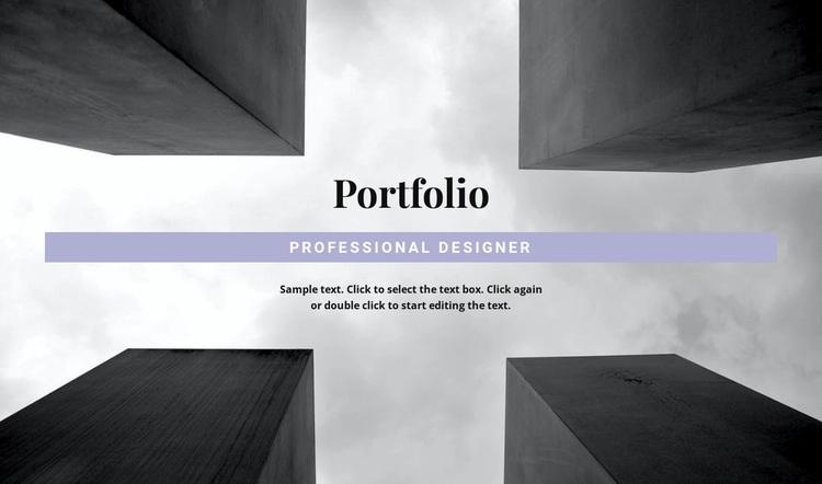 Engineer Portfolio Html Code Example