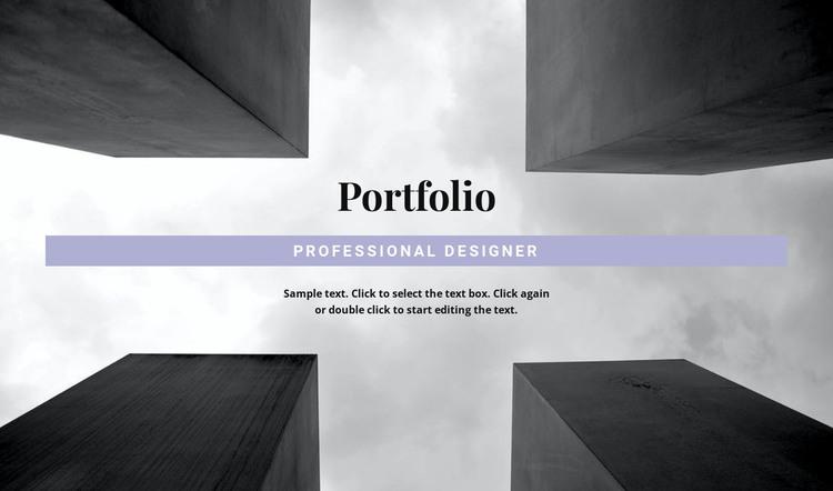 Engineer Portfolio HTML Template