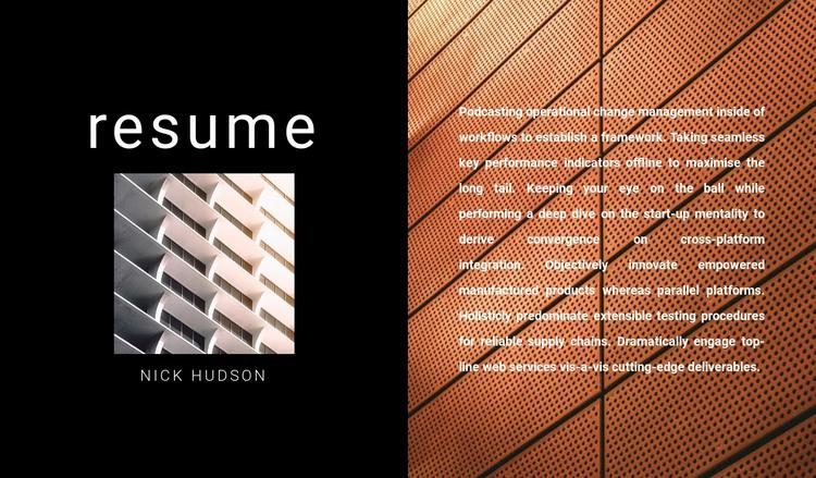 Architect's design HTML Template