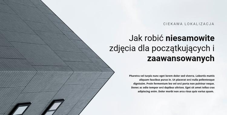 Rozpoczęcie budowy Szablon witryny sieci Web