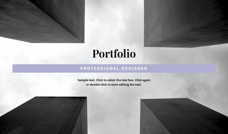 Engineer Portfolio Web Page Design