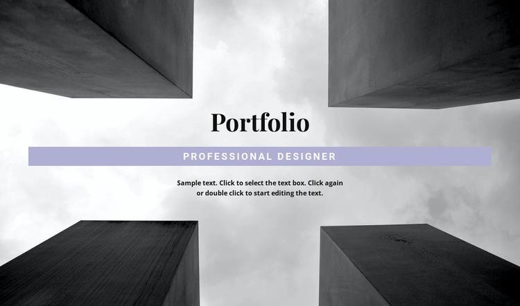 Engineer Portfolio Web Page Designer