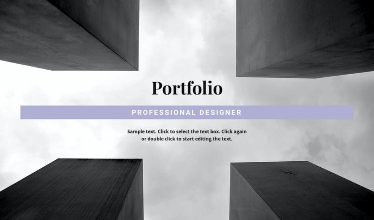Engineer Portfolio Website Builder Software