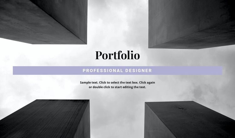 Engineer Portfolio Website Mockup