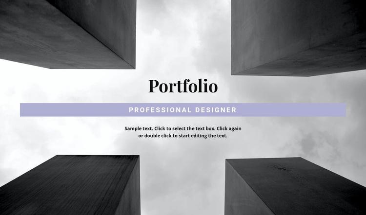 Engineer Portfolio Website Template