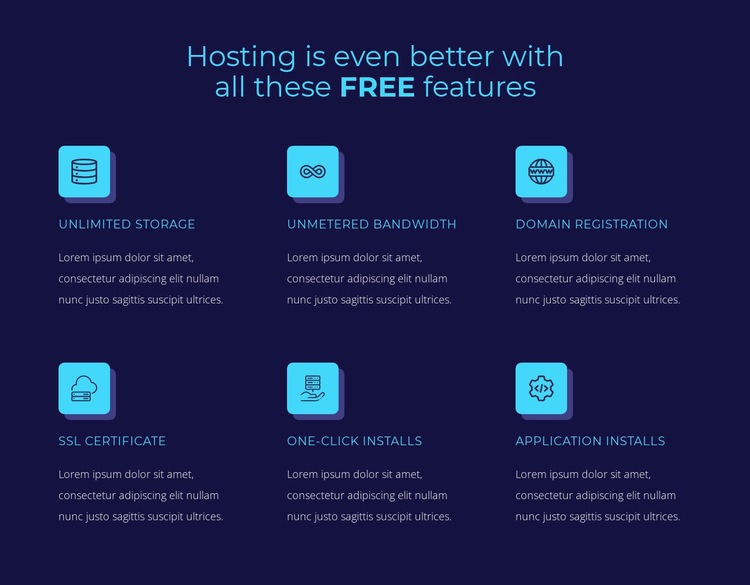 Hosting free features Html Code Example