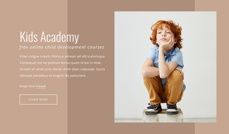 Kids academy One Page Template