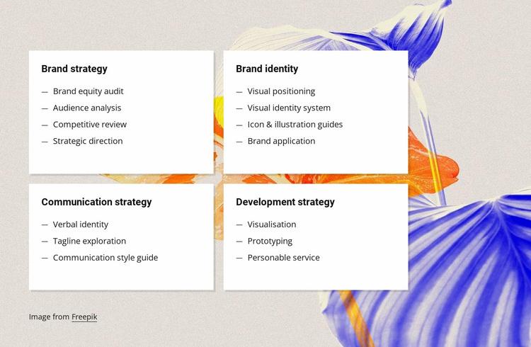 Branding strategy Website Template