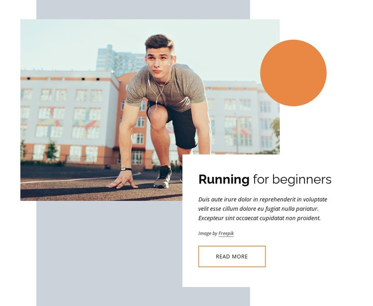 Running courses for beginners Html Code Example
