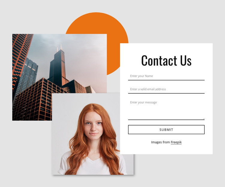 Contact form with images HTML Template