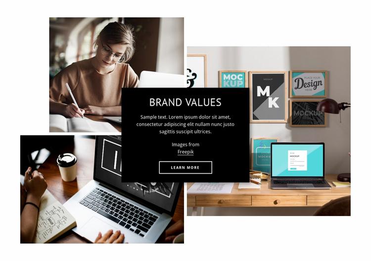 Brand values Website Template