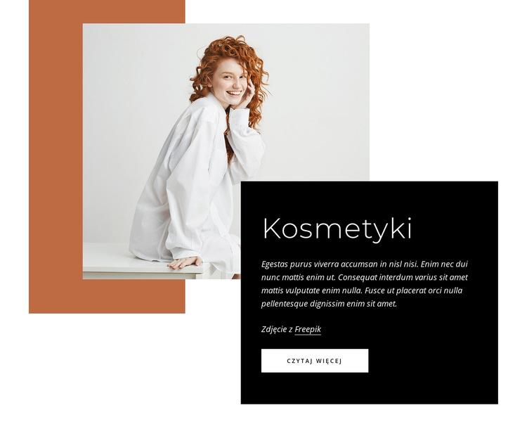Kosmetyki Szablon witryny sieci Web