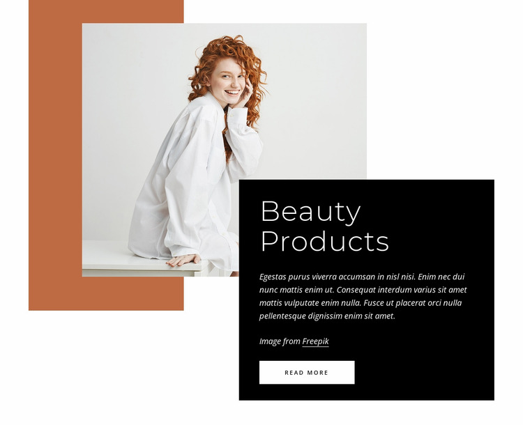 Beauty products Website Mockup