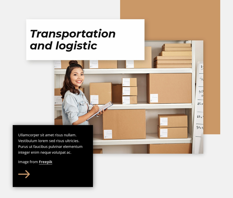 Transportation and logistic Website Template