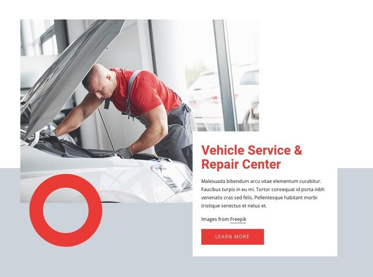 Car service near you CSS Template