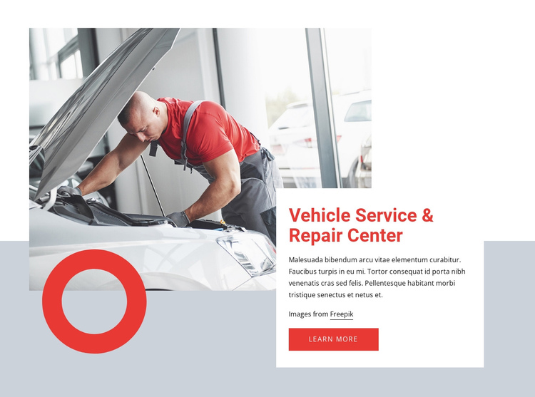 Car service near you One Page Template