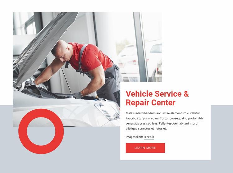 Car service near you Website Mockup