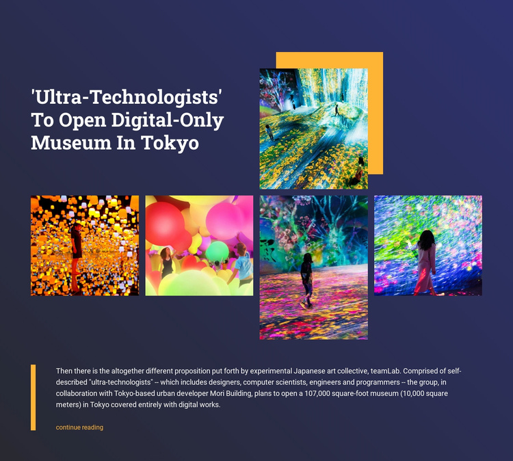 Digital museum in Tokyo Landing Page