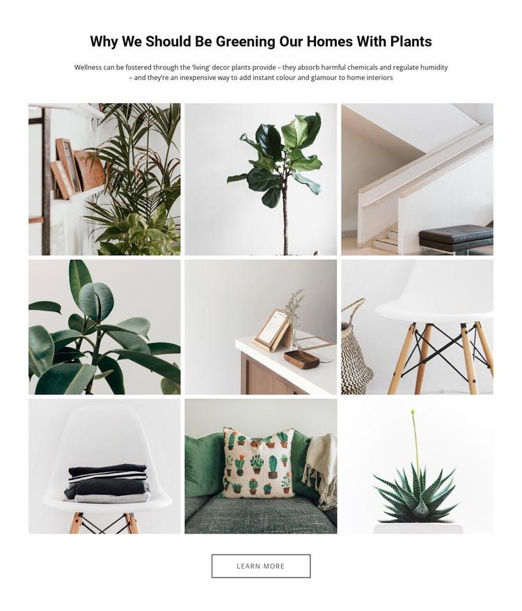 Homes plantsEdit Website Mockup