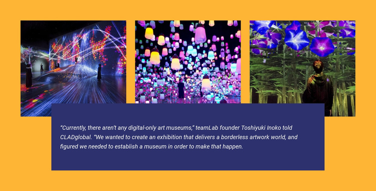 Digital-only museum in tokyo Website Template