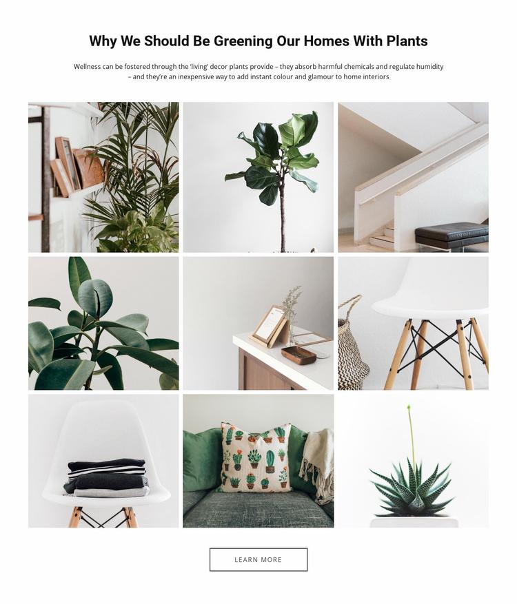 Homes plantsEdit Website Template