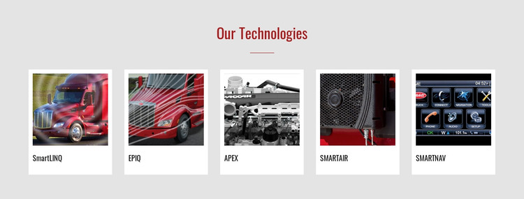 Our technologies Homepage Design