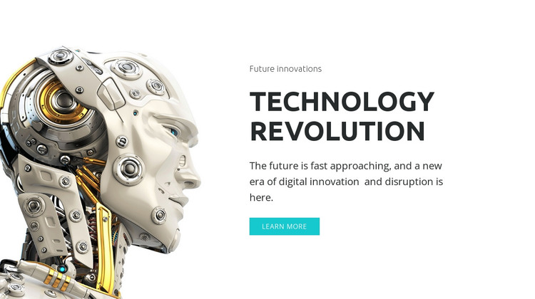 AI revolution HTML Template