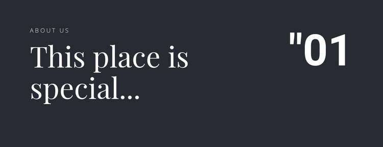 2 titles on a dark background Joomla Template