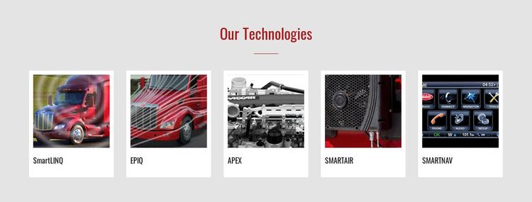 Our technologies Joomla Template