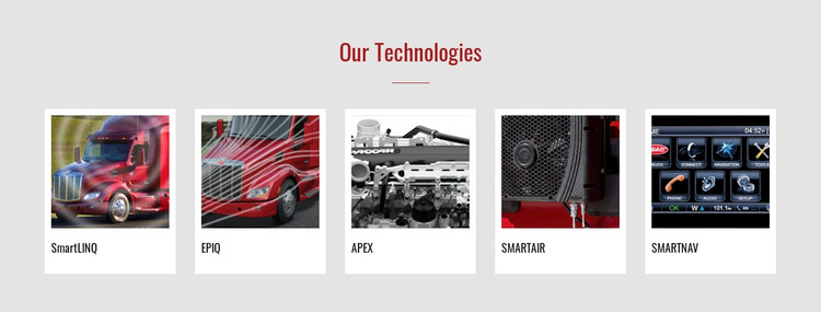 Our technologies Web Design