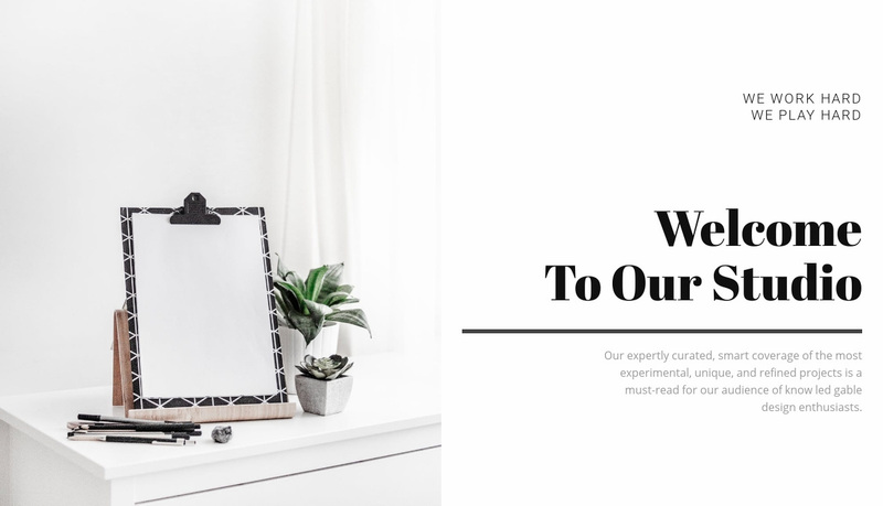 Welcome to our studio Website Creator