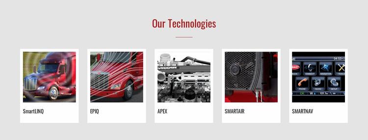 Our technologies Website Design