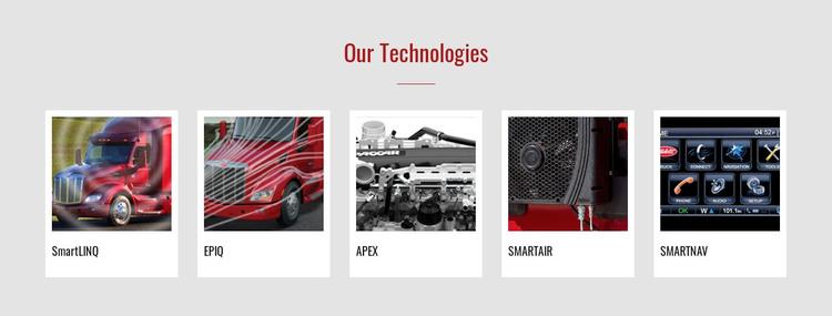 Our technologies WordPress Theme