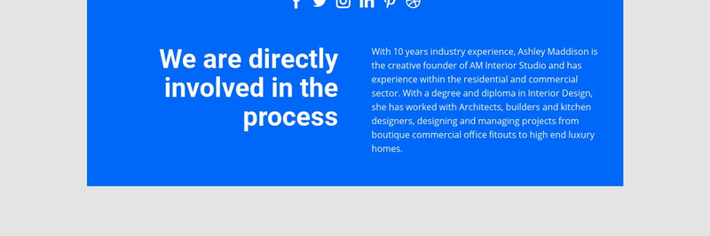 Directly involved process Web Page Design
