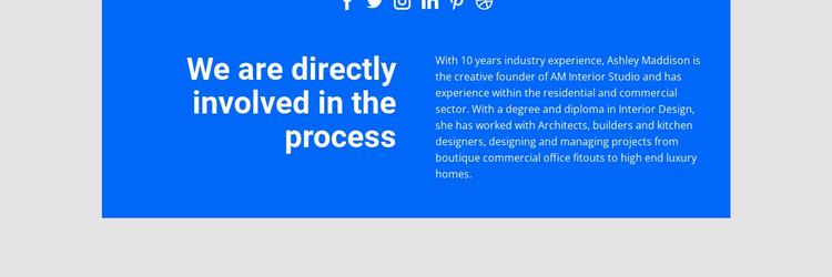 Directly involved process Website Mockup