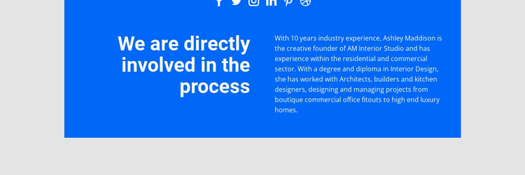 Directly involved process Website Template