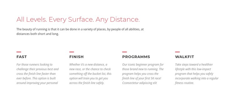 Running challenges CSS Template